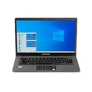 """NOTEBOOK MULTILASER PC131 ATOM/32GB/2GB/14"""" HD/W10 CINZA"""