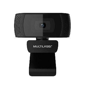 WEBCAM MULTILASER PLUG E PLAY 1080P COMMICROFONE  USB 4K PRETO WC050