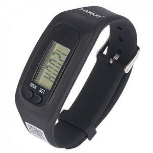 Relógio Pedômetro Preto Liveup Sports