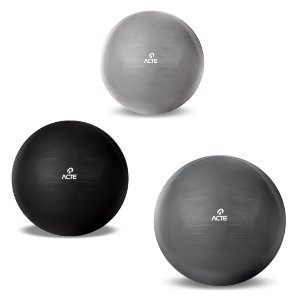 Bola Suíça de Pilates 55cm 65cm e 75cm - Kit Gym Ball