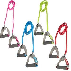 Elástico Extensor Para Ginástica Funcional 1 Via Kit - Leve, Médio, Forte e Super Forte