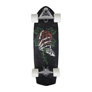 Skatesurf Skate Simulador de Surf Red Nose Swingboard Ossos e Rosa