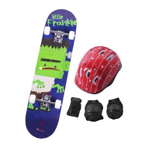 Skate Infantil Kit Iniciante Completo com Proteção Street - Frankie