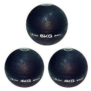 Slam Ball Crossfit - Kit 2 Bolas de 4Kg e 6Kg