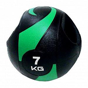 Bola De Peso Medicine Ball Com Pegada 7kg