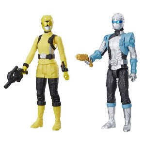 Kit Boneco Power Rangers Amarelo e Prata Beast Morphers