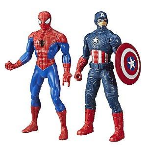 Kit Boneco Vingadores Homem Aranha E Capitão América Marvel