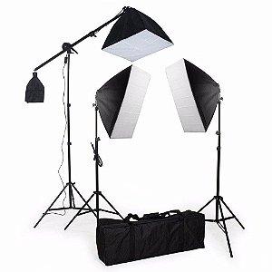 Kit de Iluminação SoftBox 50x70 - Pk-SB03 495w 110v