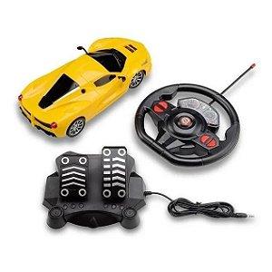 Carrinho de Controle Remoto Amarelo Racing Control Speed X