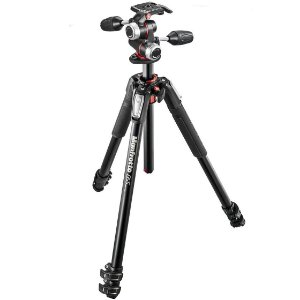 Tripé Manfrotto MK055XPRO3-3W Kit com Cabeça 3-Way