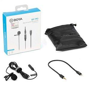Microfone de Lapela Boya BY-M2 para Celular IOS