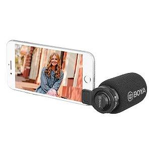 Microfone Direcional Boya BY-A7H Plug-In Condensador Mini