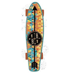 Skate Mini Cruiser Bob Burnquist Azul