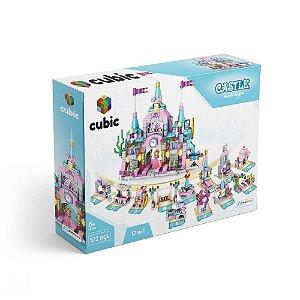 Bloco de Montar Castelo Cubic 572 peças