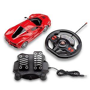 Carrinho de Controle Remoto Vermelho Racing Control Speed X