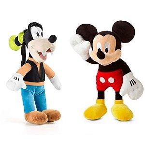 Mickey e Pateta de Boneco de Pelúcia Disney 33cm com Som