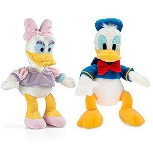 Pato Donald e Margarida de Boneco de Pelúcia Disney 33cm com Som