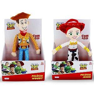Woody e Jessie Boneco de Pelúcia Toy Story 30cm com Som