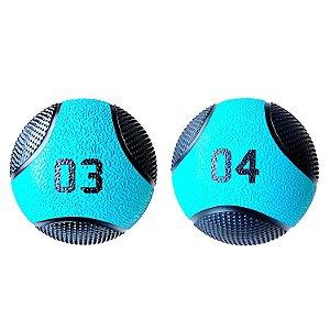 Kit Medicine Ball 3 e 4Kg Bola de Pilates