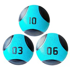 Kit Medicine Ball 3 6 10kg Bola Pra Treino Funcional Pilates