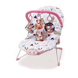 Cadeira de Descanso Vibratória - Cadeirinha de Bebê Weego até 15Kg Rosa