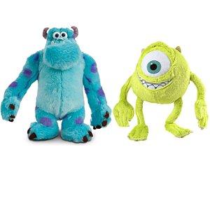 Mike e Sulley Monstros SA Boneco de Pelúcia Disney com Som