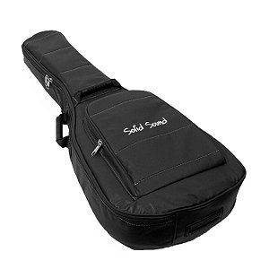 Capa para Violão Folk LT BR Solid Sound Preto