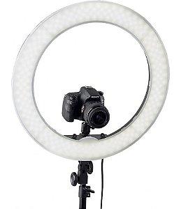 Kit Iluminador LED Ring Light 12 Circular Foto Make Tripé
