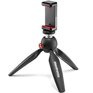 Mini Tripé Manfrotto MKPIXICLAMP-BK para Câmeras e Celulares