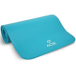 Colchonete Academia Tapete Yoga Comfort Acte - Azul