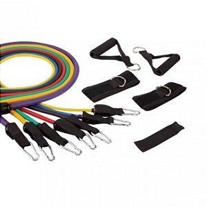 Elástico Extensor para Exercícios - Kit com 7 Liveup