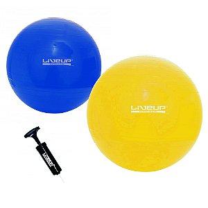 Bola Suíça de Pilates 65cm e 75cm - Kit