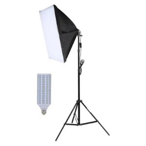 Kit Iluminação Estúdio Fotográfico LED 60w Softbox 50x70cm