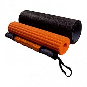 Rolo de Liberação Miofascial 3 em 1 para Pilates e Yoga 45cm - LiveUp