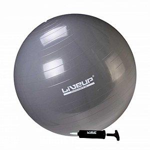 Bola Suíça Premium Para Pilates 85cm Cinza Liveup Sports