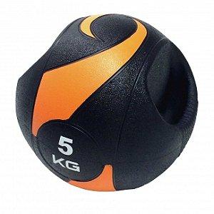 Bola De Peso Medicine Ball Com Pegada 5kg