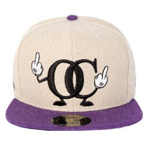 Boné Other Culture Snapback Chima Bege Roxo