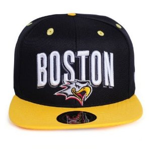 Boné Other Culture Snapback Boston Preto/Amarelo