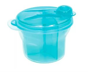 Porta formula leite em pó Azul - Buba