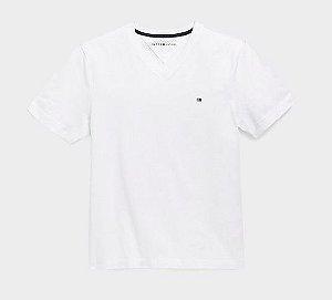 Camiseta gola V branco - Tommy Hilfiger