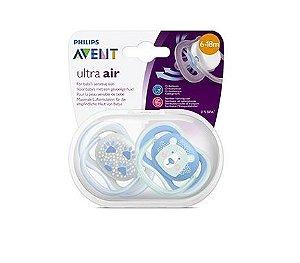 Chupeta Ultra Air Menino 6-18 meses - Avent