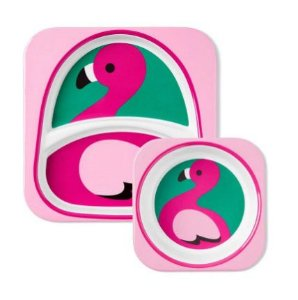 Kit Prato e tigela bowl Flamingo Zoo - Skip Hop