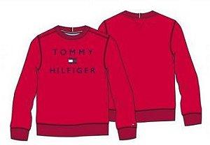Moletom Básico Logo Vermelho - Tommy Hilfiger