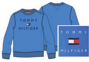 Moletom Básico Logo Azul - Tommy Hilfiger