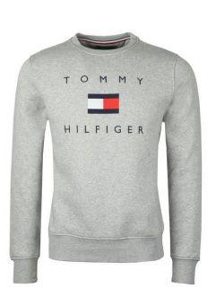 Moletom Básico Logo Cinza - Tommy Hilfiger