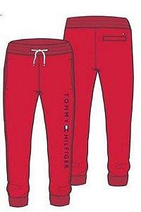 Calça Moletom Jogger Logo Vermelha- Tommy Hilfiger