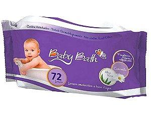 Lenços Umedecidos a base d'água (72 Unidades) - Baby Bath