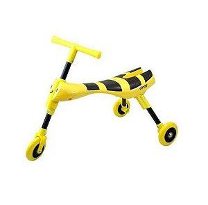 Triciclo Infantil Dobrável Amarelo/Preto - Clingo