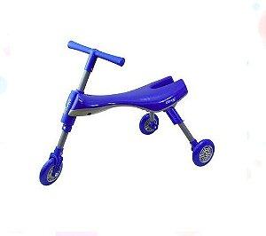 Triciclo Infantil Dobrável Azul/Cinza - Clingo