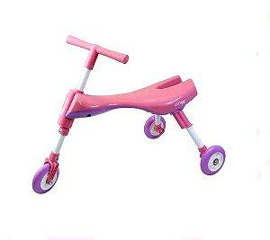 Triciclo Infantil Dobrável Rosa/Lilás - Clingo